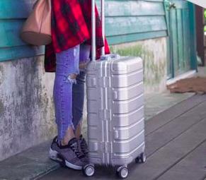 Xiaomi Aluminum-Magnesium Koffer mit 4 Ultra-Silent-Rollen für 126,34€