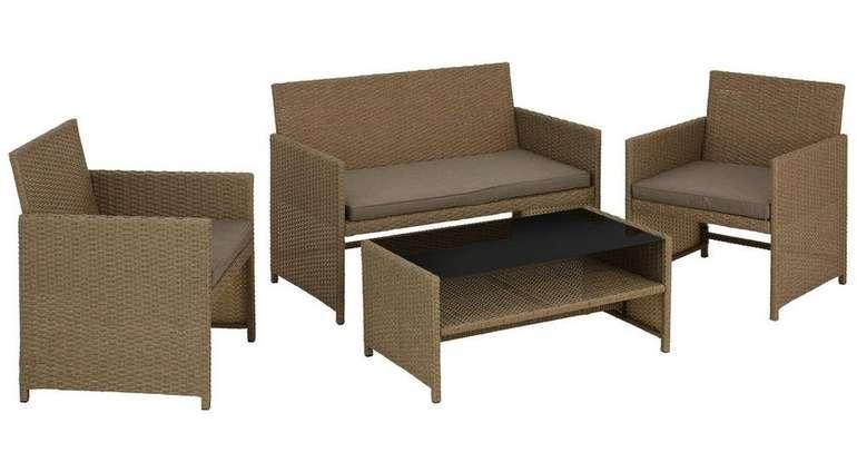 Loungegarnitur Casablanca in Braun/Schwarz für 104,30€ inkl. Versand (statt 180€)