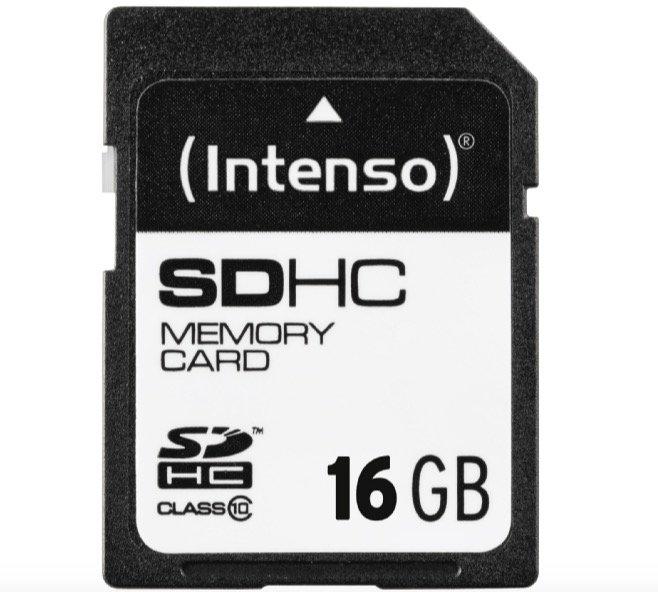Intenso 3411470 - 16GB SDHC Speicherkarte mit Class 10 für 3€ inkl. Versand