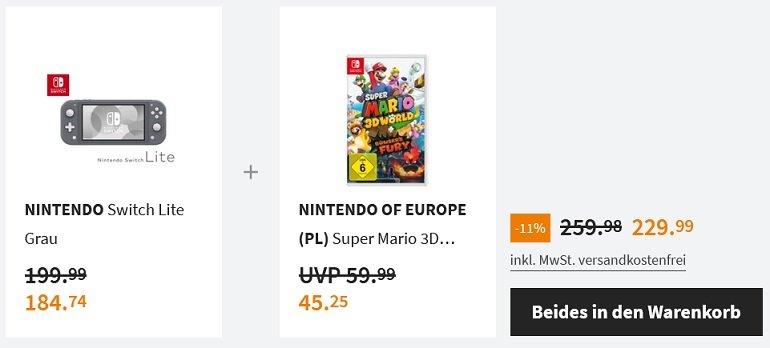 Nintendo Switch Lite Super Mario 3D World + Bowser's Fury 2
