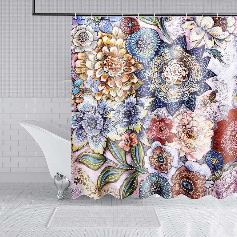 Lile Duschvorhang Set (180 x 200 cm) für 8,95€ inkl. Prime Versand (statt 13€)