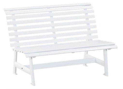 Kettler 2-Sitzer Alu-Gartenbank in weiß für 101,99€ inkl. VSK (statt 127€)