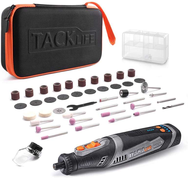 Tacklife RTD02DC Akku Multifunktionswerkzeug mit Zubehör für 32,49€ inkl. Versand (statt 50€)