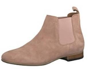 Tamaris Damen Chelsea Boots aus Leder in braun oder rosa für 39,99€ (statt 60€)