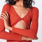 Fashion Union Shirt 'NOELE' in orangerot für 10,97€ inkl. VSK (statt 15€)