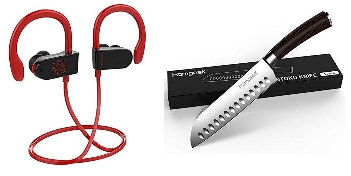 dodocool Bluetooth In Ear Kopfhörer für 12,99€ oder homgeek Santokumesser 13,59€
