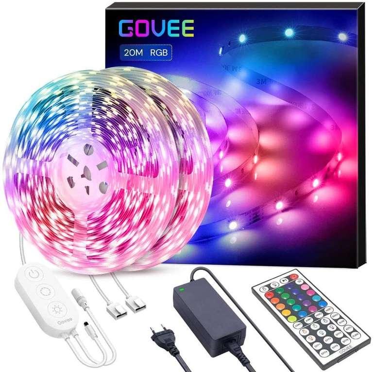 Govee 20m RGB LED Streifen mit Fernbedienung für 42,89€ inkl. Versand (statt 66€)