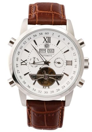Constantin Durmont Herren-Armbanduhr (CD-CALE-AT-LT-STST-WH) für 19,99€