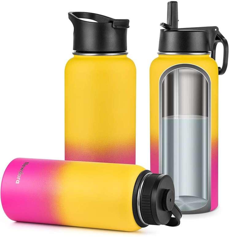 Newdora doppelwandige Edelstahl Trinkflasche (950ml) für je 10,99€ inkl. Prime Versand (statt 22€)