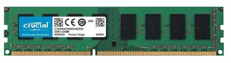 Crucial 4GB DDR3-1600 Arbeitsspeicher (CT51264BD160BJ) für 9,99€ (statt 19€) - Prime!