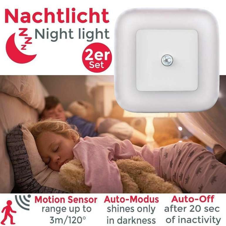 2er Set BKL1133 Steckdosen-Lampen mit Bewegungsmelder für 10,99€