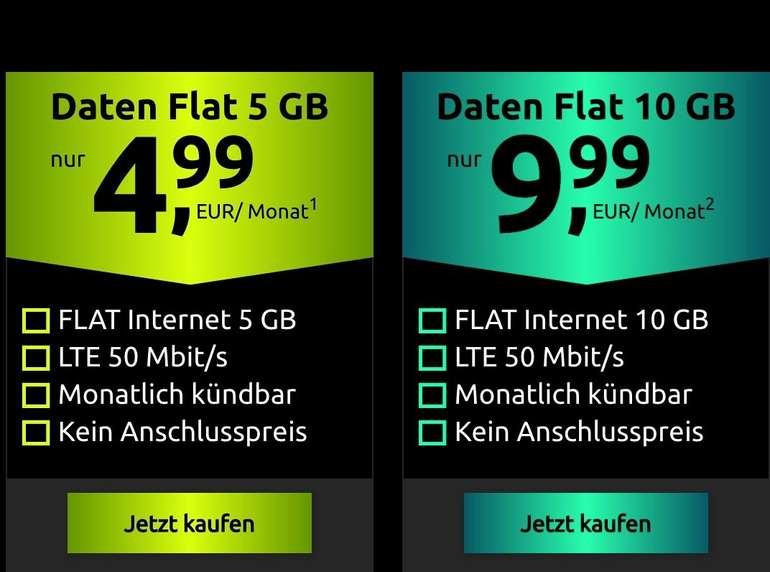 Crash Daten-Flatrate im Vodafone-Netz inkl. 5GB LTE für 4,99€ mtl. oder 10GB für 9,99€ mtl. (mtl. kündbar!)