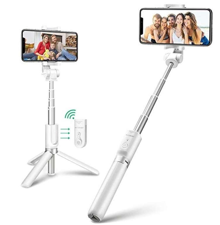 BlitzWolf 3-in-1 Bluetooth Selfie Stick mit Stativ und Auslöser für 10,19€ mit Prime (statt 16€)