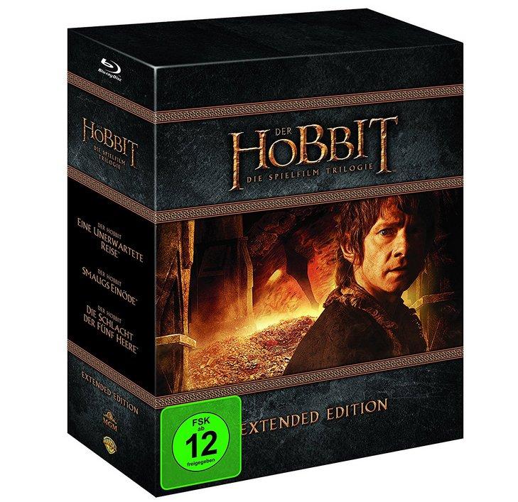 Der Hobbit Trilogie - Extended Edition [Blu-ray] + Kinogutschein für 29,99€ (Vergleich 39€)