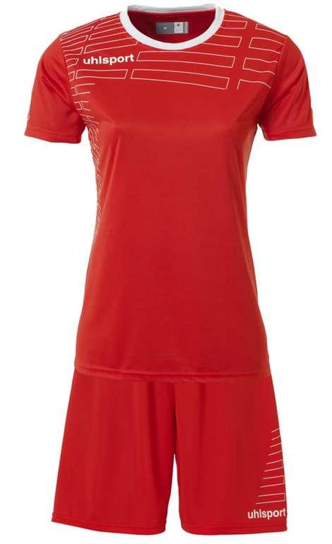 Uhlsport Match Damen Fußball Set Trikot mit Shorts (100316806) für 5,55€ zzgl. Versand (statt 11€)