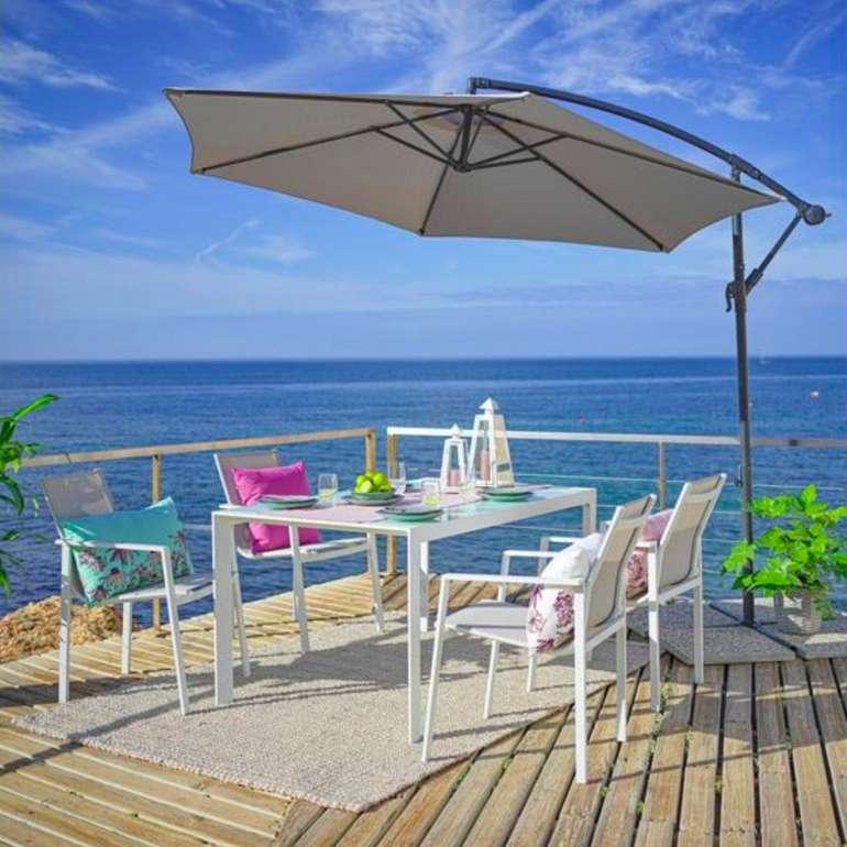Dining-Loungeset Cancun 5-teilig (Tisch und 4 Stühle) für 261,75€ (statt 349€) - bei Abholung