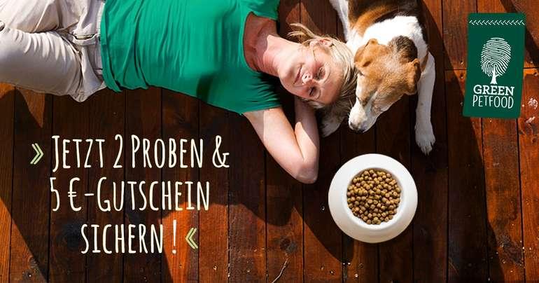 Gratis: 2 x Green Petfood Hundefutter Proben + 5€ Futtergutschein
