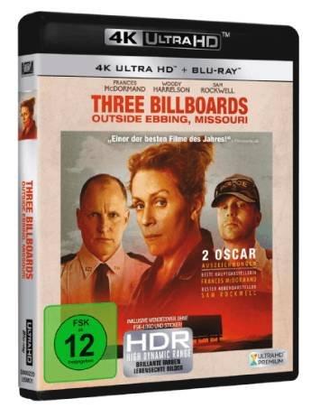 Three Billboards Outside Ebbing, Missouri [4K Ultra HD Blu-ray] für 14€ (statt 20€)