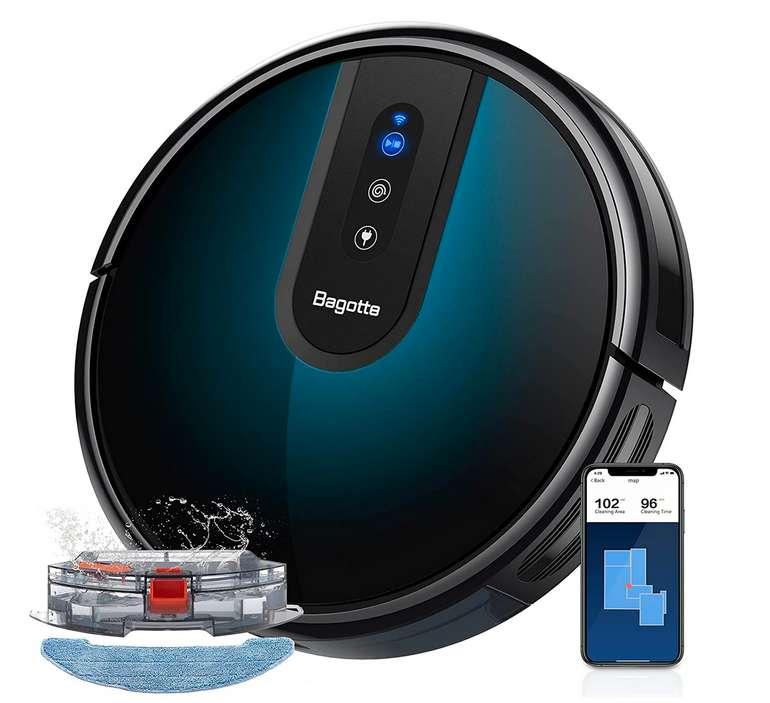 Saugroboter mit Wischfunktion Magnetstreifen Kompatibel mit Alexa und Google Assistant für 181,98€ inkl. Prime Versand (statt 259,97€)