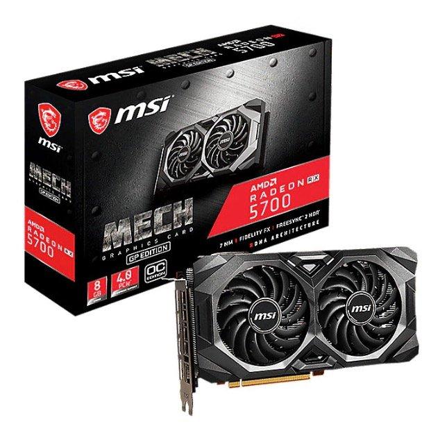MSI AMD Radeon RX 5700 Mech GP OC 8GB Grafikkarte für 319€ (statt 339€)
