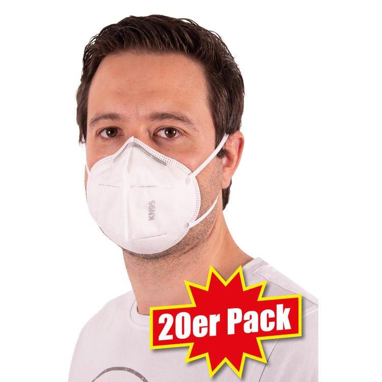 20er Pack KN95 Mund-Schutz-Masken für 37,50€ (oder + Nordcap Kühlrucksack für 40€)
