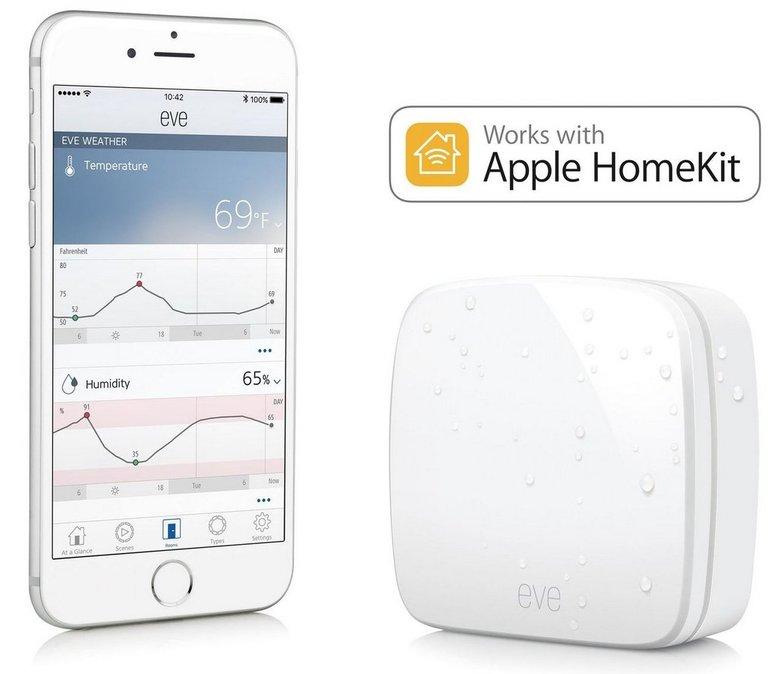 Elgato Eve Weather kabelloser Außensensor für iPhone/iPad zu 31,49€ (statt 47€)
