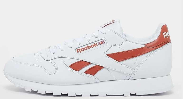 Reebok Classic Leather Sneaker in Weiß/Rot für 51,99€inkl. Versand (statt 66€)