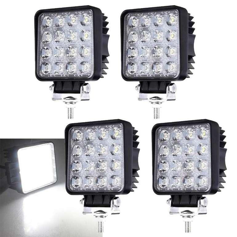 Hengda IP67 LED Arbeitsleuchten reduziert, z.B. 4 x 48W für 24,07€
