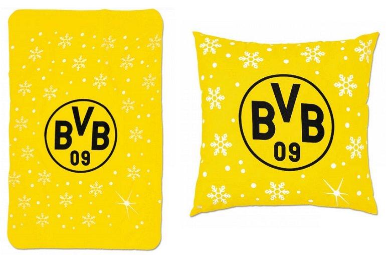 BVB Weihnachtsfleecedecke 2019 + Kissen für 15€ inkl. Versandkosten (statt 30€)