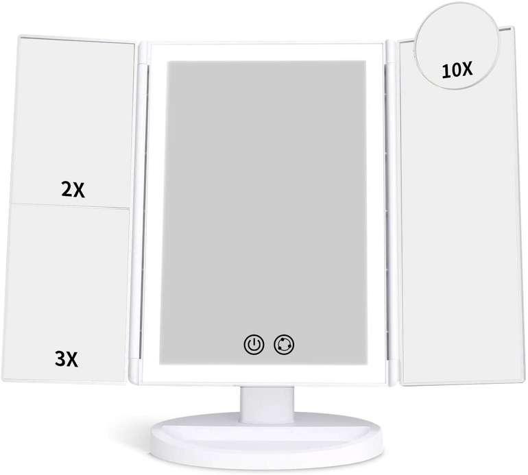 Alvorog Tischspiegel mit Beleuchtung (2X/3X/10X Vergrößerung) für 12,99€ inkl. Versand (statt 26€)