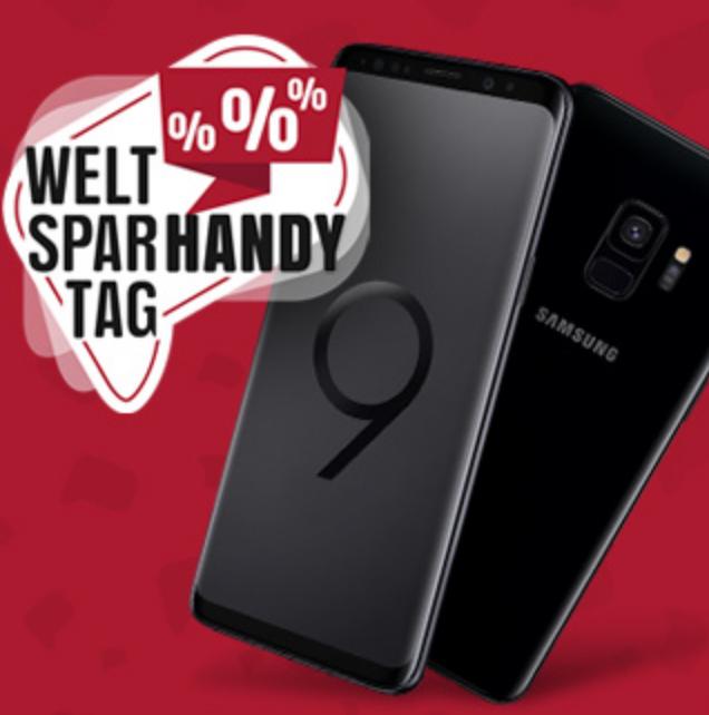 Samsung Galaxy S9 + Otelo Fan-Tarif (5GB, Allnet, SMS-Flat) für 18,48€ mtl.