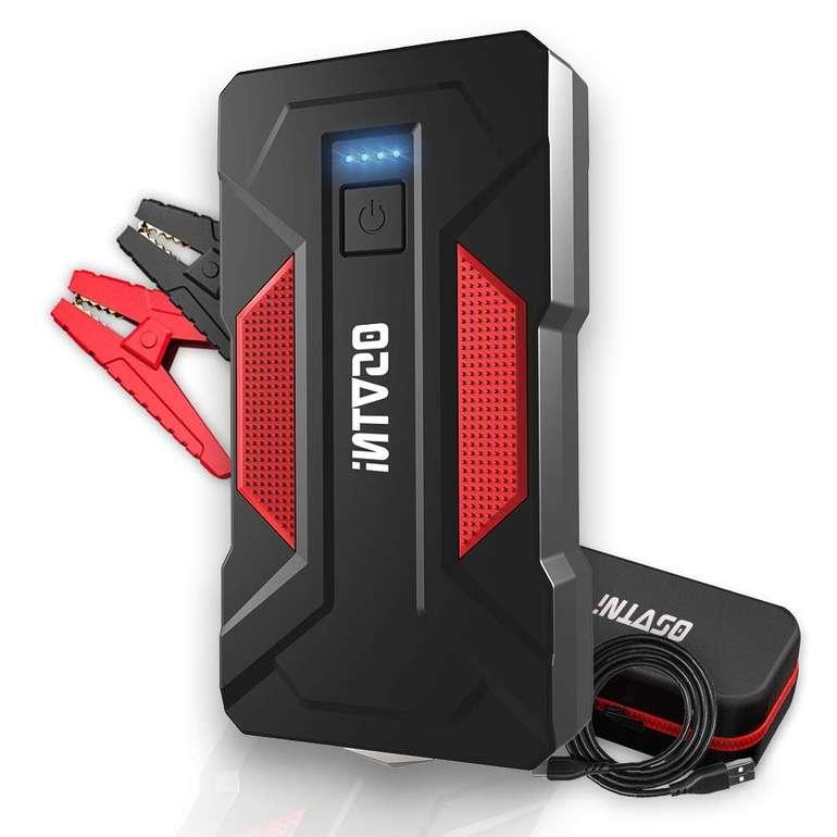 OSVTNI Starthilfe mit Powerbank-Funktion (16.000 mAh, 2.000A, Dual USB, Taschenlampe) für 52,49€ (statt 70€)