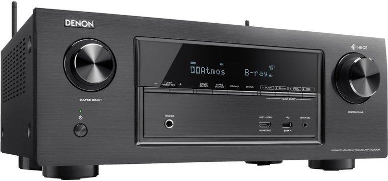 Denon AV Receiver AVRX2400H mit 7.2 Kanälen, WLAN, 4K, Dolby Atmos für 305€