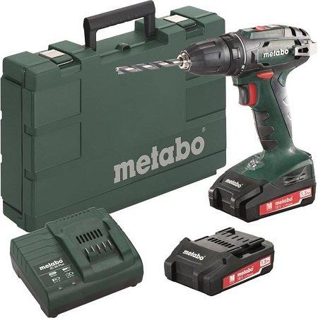 Metabo Akku-Bohrschrauber BS 18 18V 2x LiPower-Akkus/Ladegerät im Koffer 78,30€