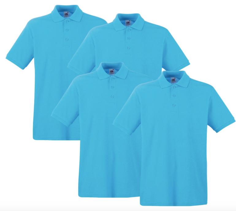 Fruit of the Loom Premium Herren Poloshirts (4er Pack) für 27,99€ inkl. Versand