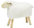 Schafhocker für Kinder, klein (weiß) für 18,95€ / groß (grau) für 38,95€