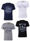 4er Pack Mustang Herren T-Shirts mit Frontprint für 29,95€ (statt 44€)