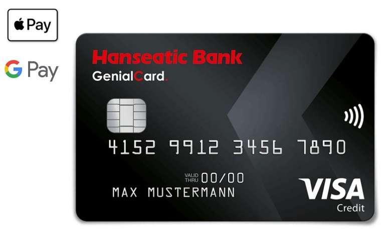 Gebührenfreie Hanseatic GenialCard (schwarze VISA Karte) + 50€ Startguthaben + 30€ Weiterempfehlung
