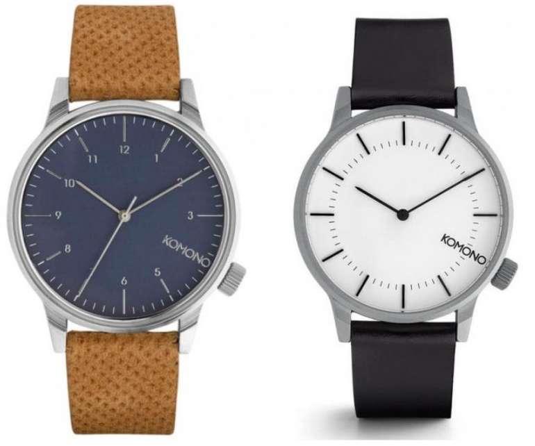 Komono Winston Unisex Uhr mit Lederarmband in 2 Farben für 29,99€inkl. Versand (statt 41€)