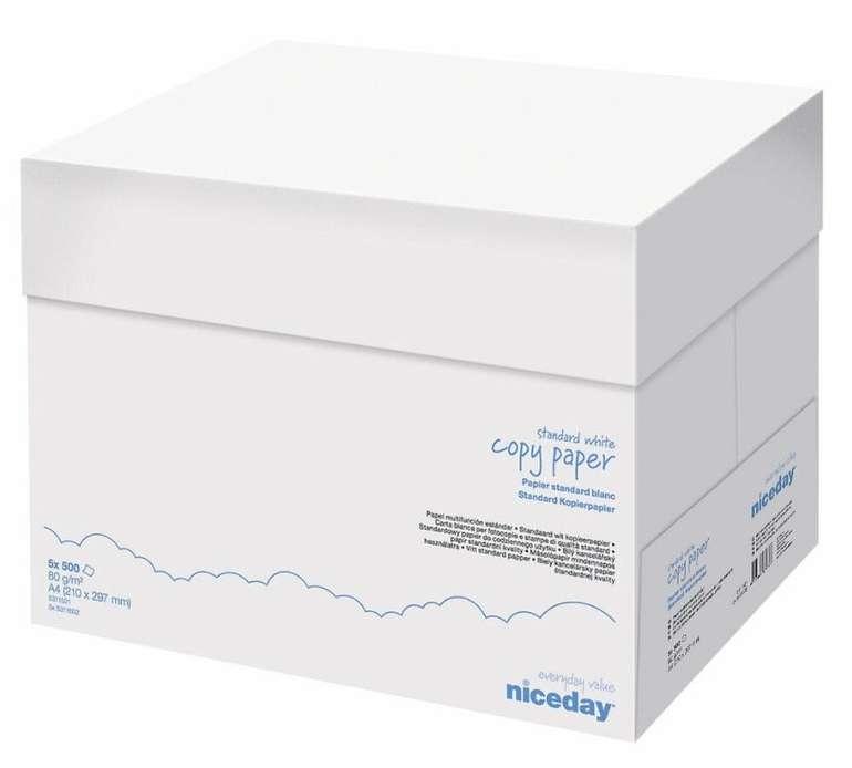 5x 500 = 2500 Blatt Niceday Kopierpapier/Druckerpapier (A4, 80g, weiß) für 15,99€ inkl. Versand (statt 21€)
