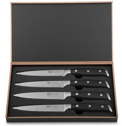 K&G Steakmesser-Set 4-tlg. - aus Edelstahl, Wellenschliff für 10,90€ (statt 29€)