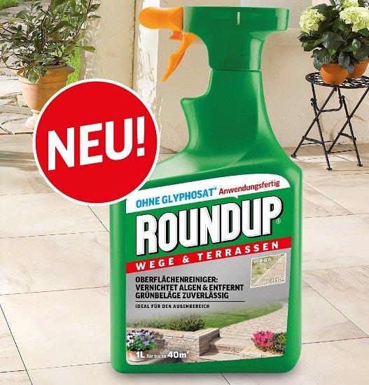 Roundup Wege & Terrassen (Grünbelagsreiniger) kostenlos testen
