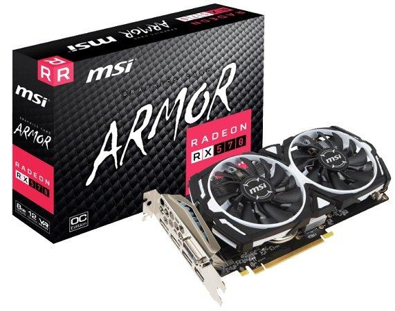 MSI RX 570 ARMOR 8G OC Grafikkarte  für 155,89€ inkl. VSK (statt 177,75€)