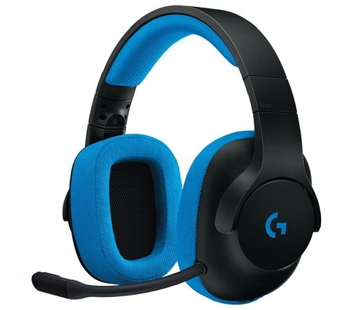 Logitech G233 Prodigy Gaming Headset Schwarz-Blau für 45,90€ inkl. VSK
