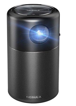 Anker Nebula Capsule Beamer mit HDMI, Wi-Fi, & 360° Lautsprecher für 305,90€