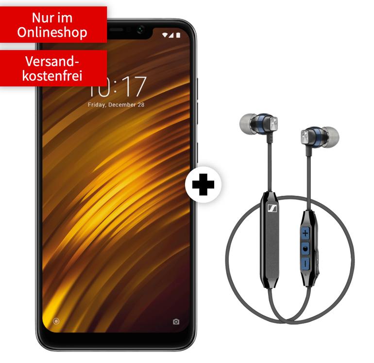 Xiaomi Pocophone F1 + Sennheiser CX + Vodafone Allnet (2GB LTE) für 16,99€ mtl.