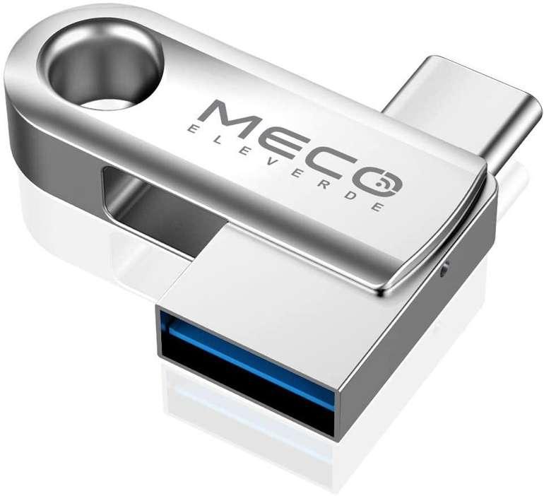 Meco Eleverde 32GB 2-in-1 USB Stick (USB 3.0/USB Type-C) für 5,20€ inkl. Prime Versand (statt 13€)