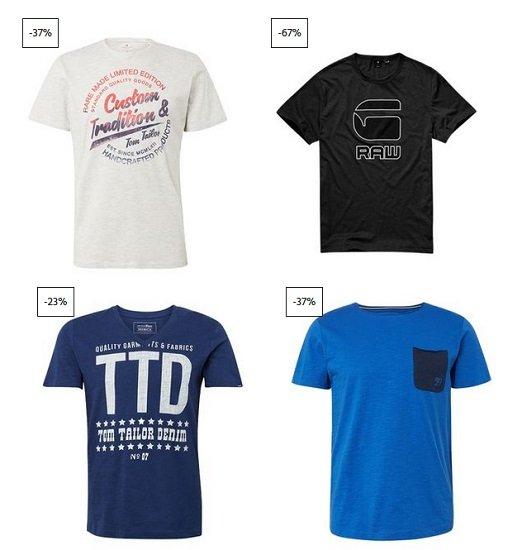 Jeans-Direct: 4 T-Shirts nach Wahl (G-Star, Jack & Jones, Lee usw.) für nur 30€ inkl. Versand