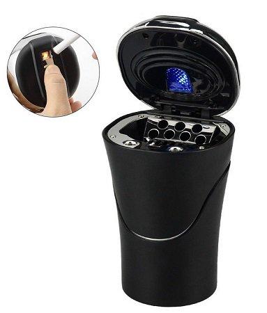 E-More - Auto Aschenbecher mit Zigarettenanzünder (USB aufladen) für 8€
