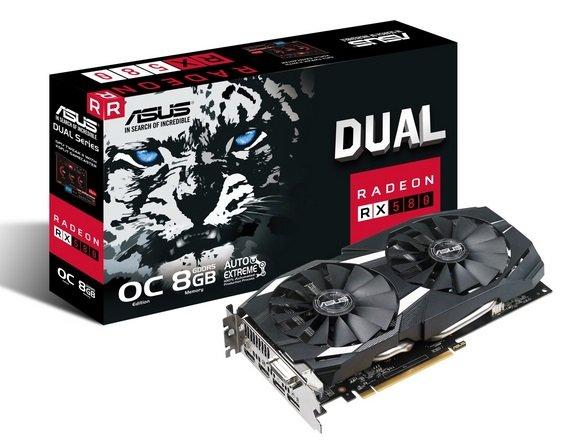 Asus Dual Radeon RX 580 OC 8GB GDDR5 Grafikkarte + 240GB SSD zu185€ (statt 256€)